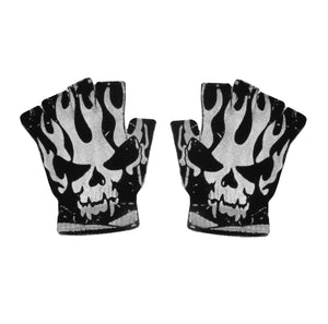 Flaming Skull Gloves