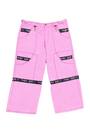 Giant Pink Zipoff Jeans