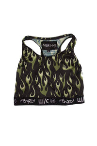 Athletic Mesh Flame Sports Bra