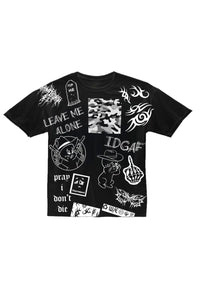 LEAVE ME ALONE Black Tee
