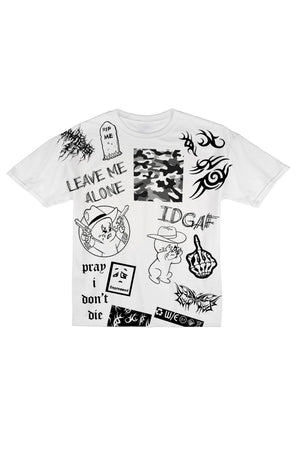 LEAVE ME ALONE White Tee