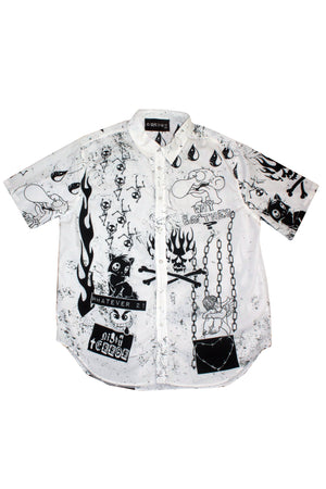 Night Terror Short Sleeve Button-Up Shirt