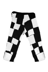 Patchwork Checkerboard Joggers