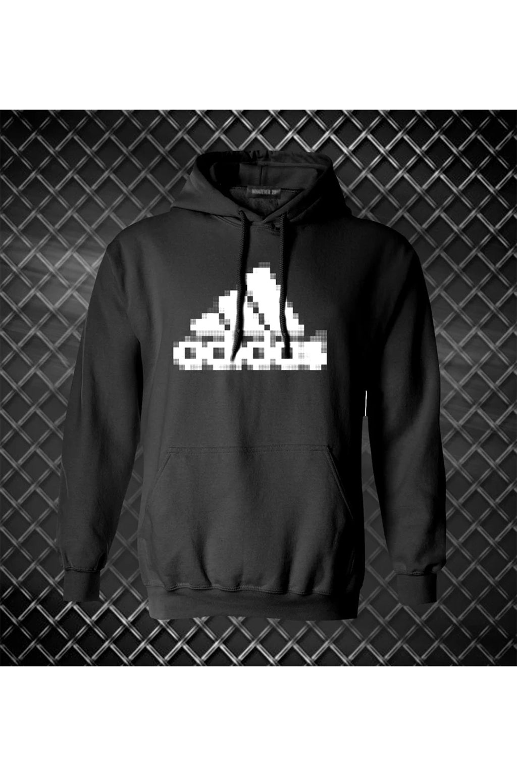 PIXELATED ATHLETIC LOGO HOODIE