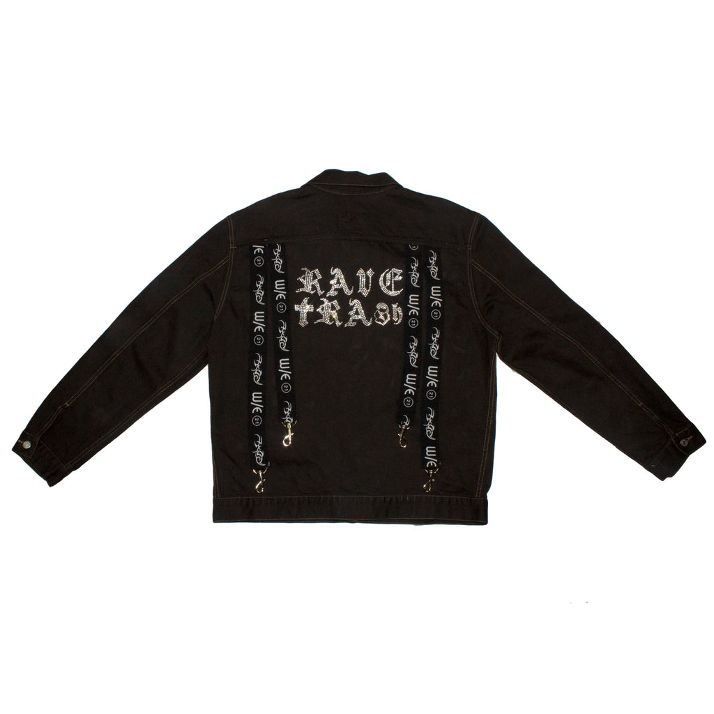 RAVE TRASH Black Denim Jacket