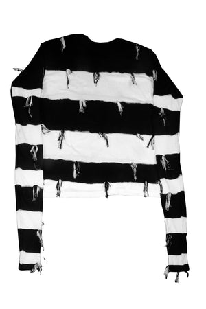 Striped Reconstructed Longsleeve Tee