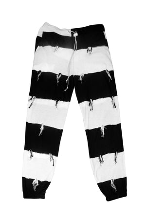 Striped Reconstructed Joggers