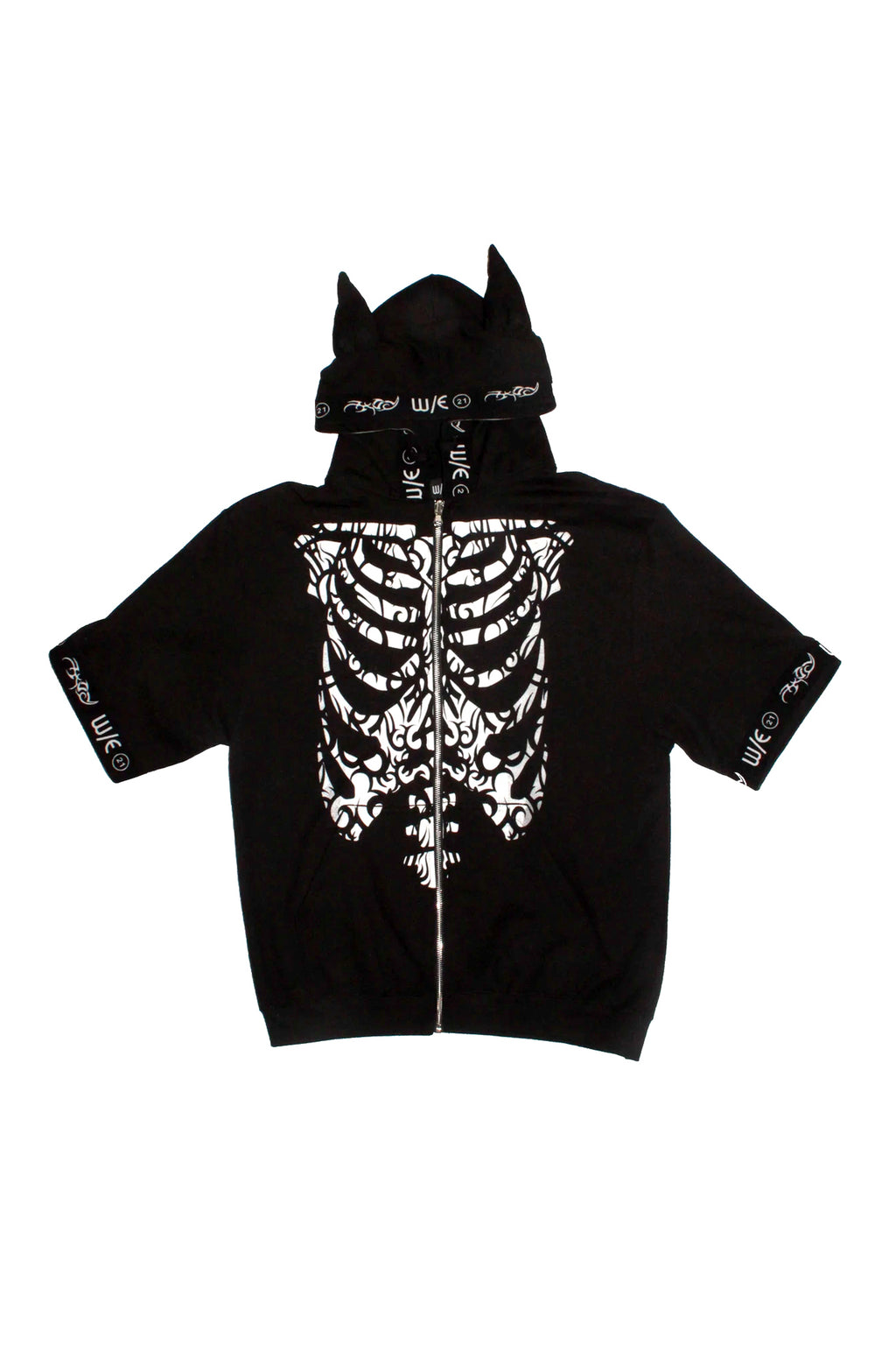 Tribal Skeleton Short Sleeve Hoodie