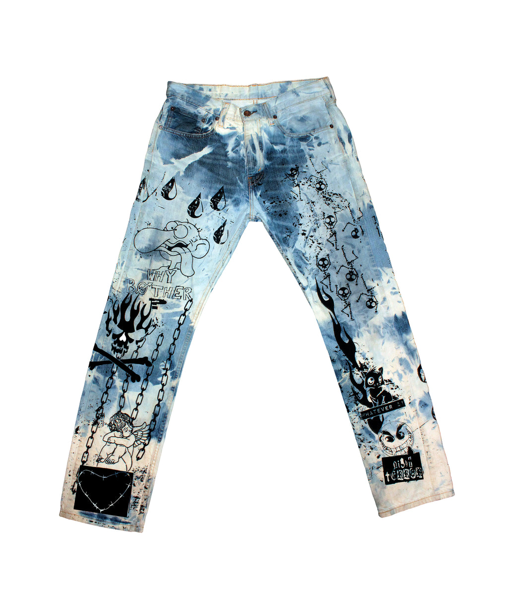 Night Terror Acid Wash Jeans