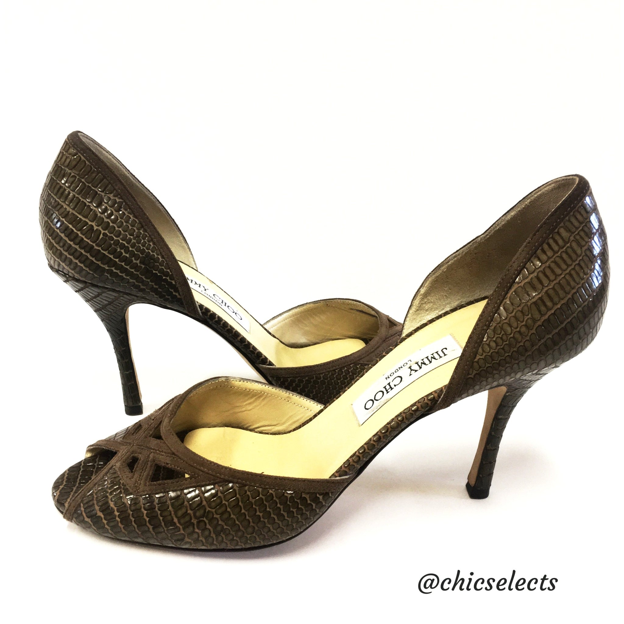 Fast Delivery Online Buy Cheap Very Cheap Jimmy Choo Embossed D'Orsay Pumps Pay With Paypal Sale Online Brand New Unisex Cheap Online Free Shipping How Much hk5mgqsFy