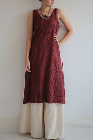 Dress/Artistic collection... Kurta dress, Round basic neck tunic dress full hand embroidery [D 017]
