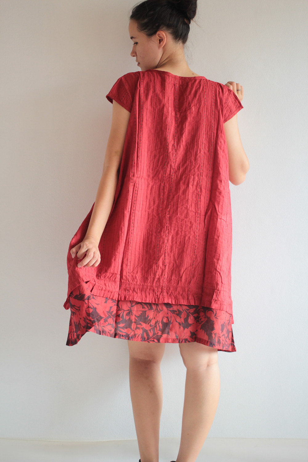 Dress/Patchwork /dress full hand embroidery  (M)D1404