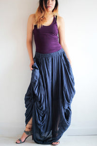 Hippie  Skirt.. Linen mixed silk...420