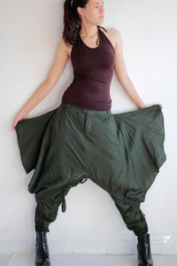 Pants/Hippie funky Skirt over pants...No.15 mix silk( GP-355)