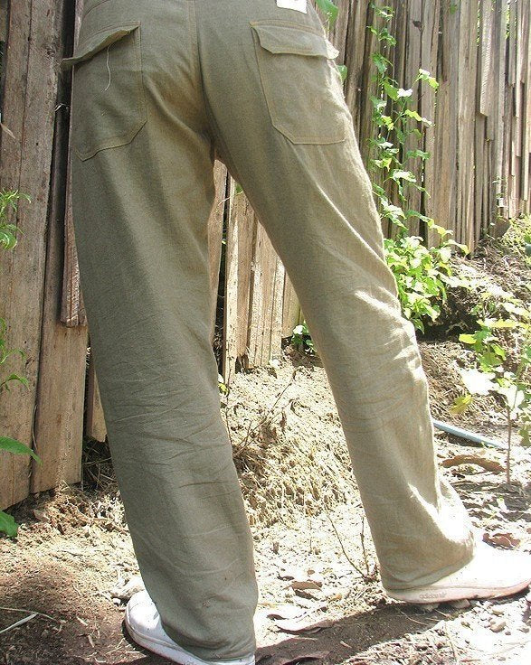 Men's 100 percent hemp pants.. available Inall color all size S,M,L,XL,(1434)