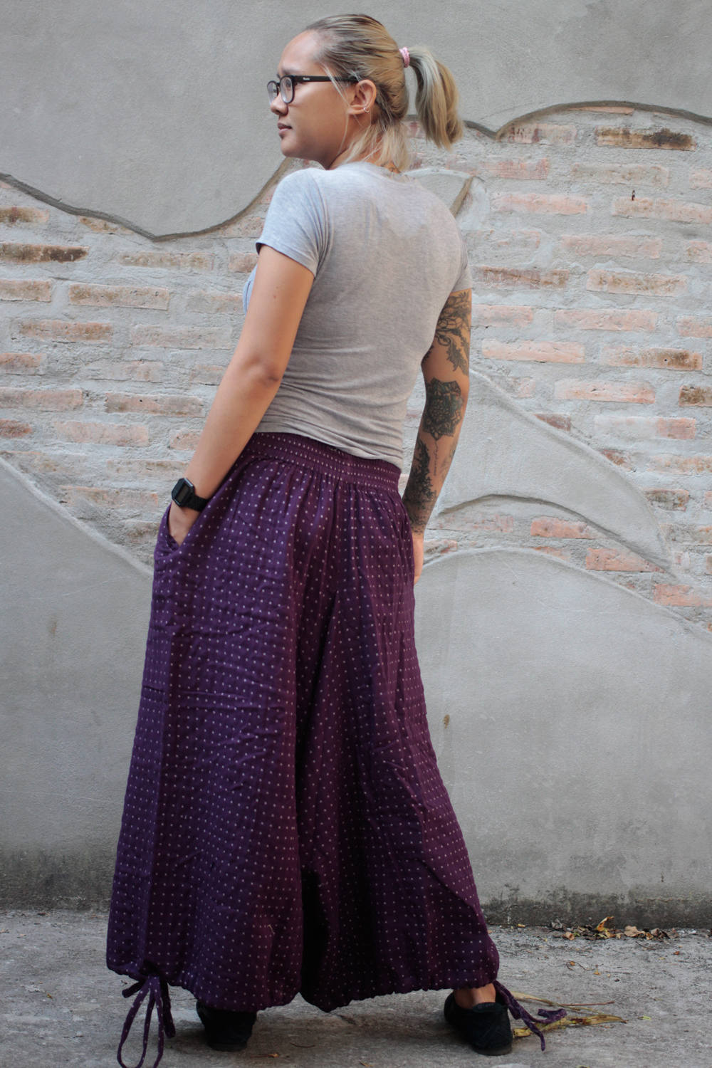 Pants..Hippie pants (1417) / harem pants  100% cotton size  M