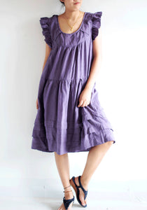 Dress ...cotton mix silk and  linen (1419) / Maternity Dress /Lining/ Casual Dress in 3 sizes