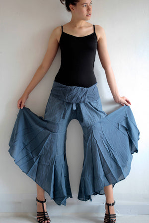 Pants..  Hippie  pants...Black mix silk M,L  148