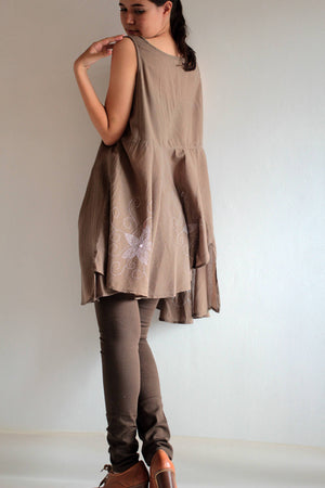 Dress/Asymmetric elegant mini dress  (XXL) D108