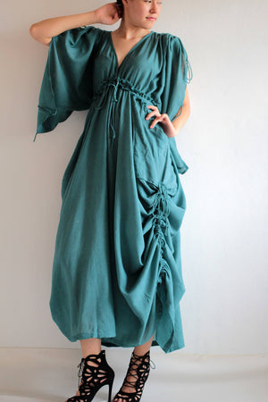 Maxi dress Mixed Silk Maxi Dress (366) (M-L)