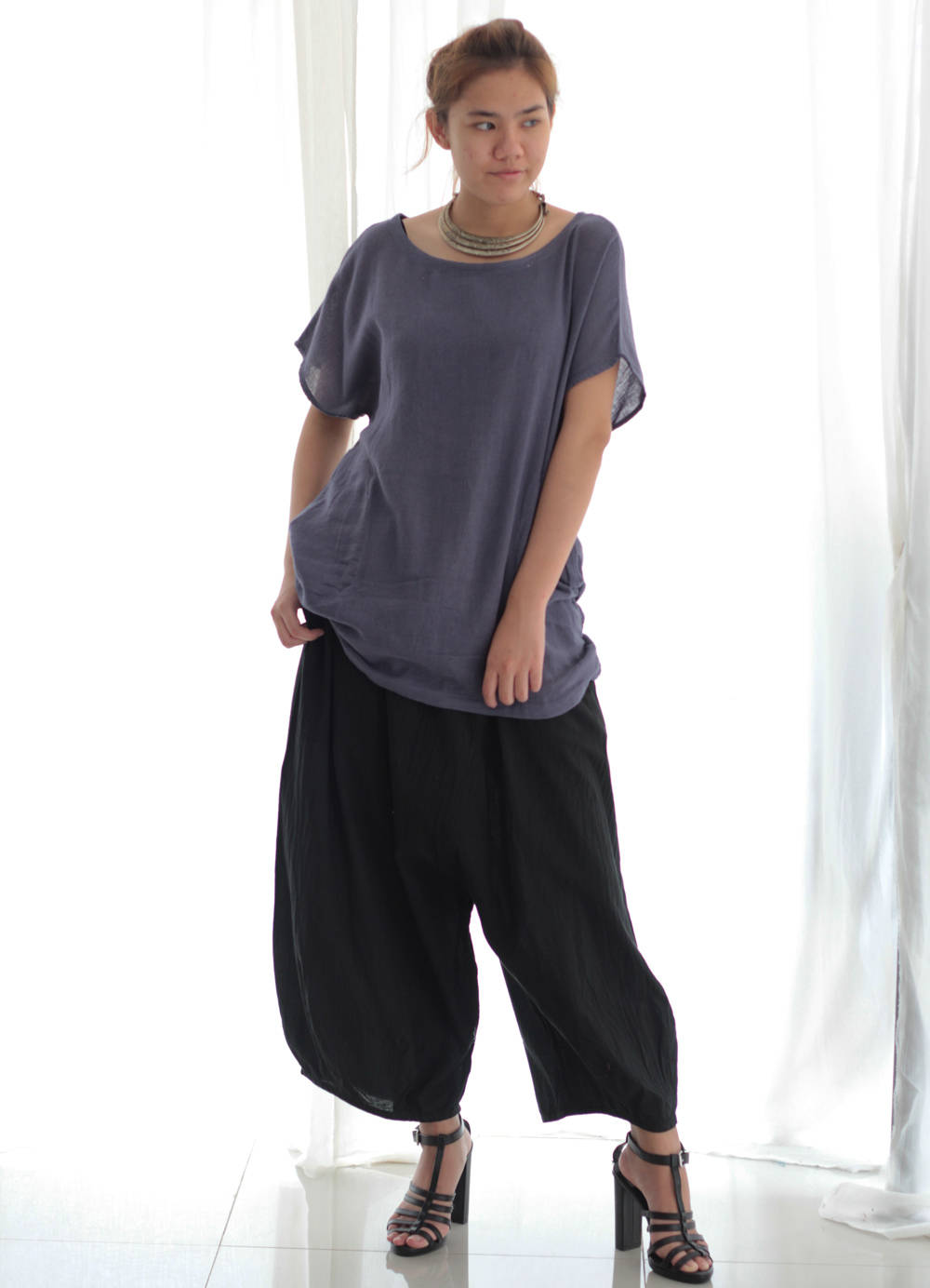 Pants..Cotton 100% Pants 135 A Harem Pants / Summer Pants/ capris pants