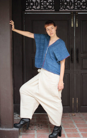 Pants/Hippie/funky... pants Hemp/cotton adjustable for size S-L(138)