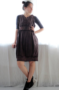Mini dress ... Finished with hand embroidery , available only size M  (D-164)
