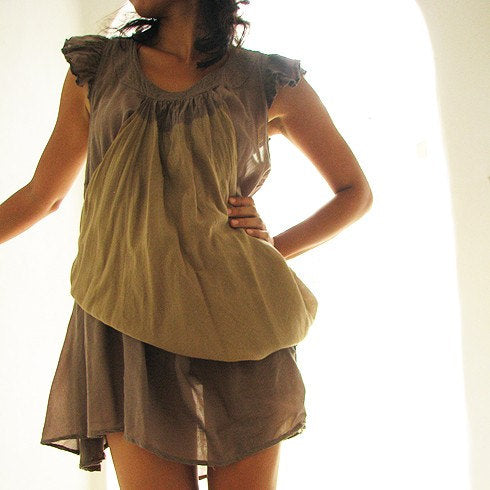 First impression dress tiedye...Gray/Olive M-L