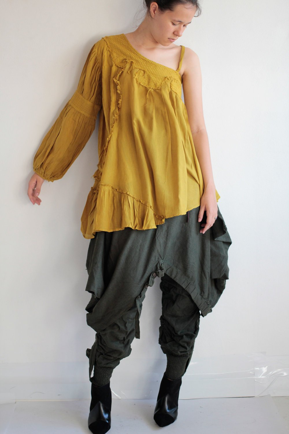 Blouses Asymmetric Funky unusual blouse..colour  (one size fit M-L)( photo colour No.18)(M/L