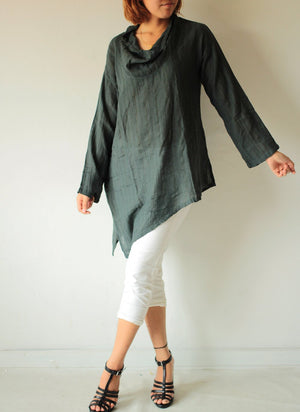 Loose fit blouse ... Linen/cotton  and all colours available..