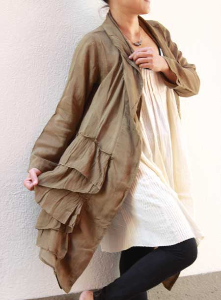 Jacket tunic blouse...mix silk all colours/all sizes(1407)