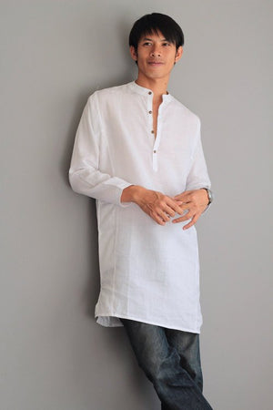 Men's shirt (% Linen djellaba style B 5707)