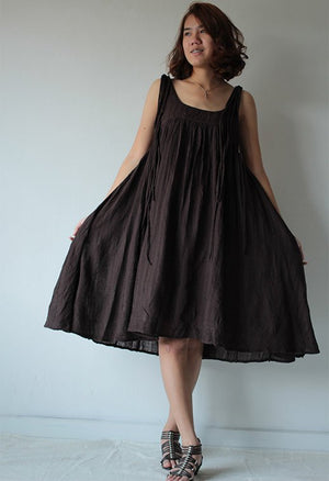 Dress/Linen/cotton dress  (fit all size)(1446)