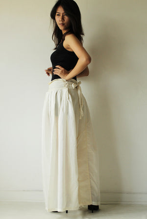 Pants/Wide Pants cotton mixed with silk in 2 sizes / boho /hippy/ long pants/ wide leg /bloomers(244)