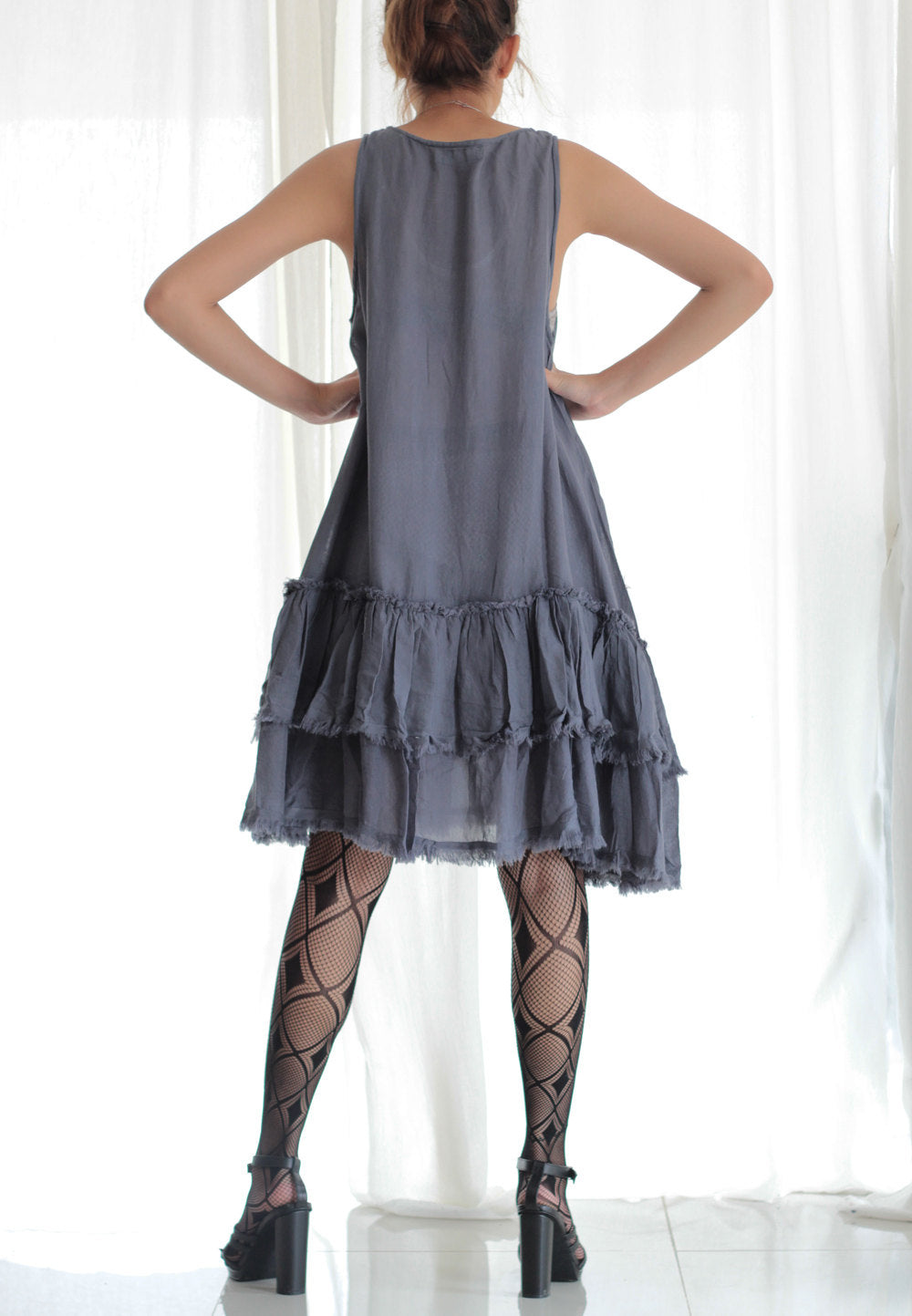 Dress Mix silk Blue Grey...available in size M,L,XL And all colours..