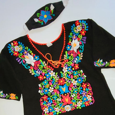 Flores de Mexico Embroidered Blouse - Special Order