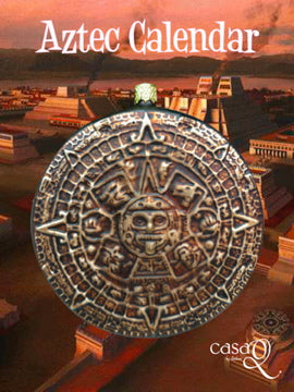Aztec Calendar Fine Hand-Painted Glass Ornament by CasaQ