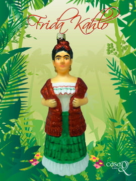 Frida Kahlo Fine Hand-Painted Glass Ornament by CasaQ