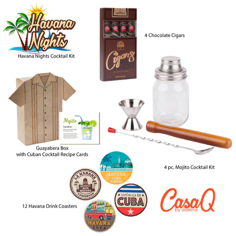 Havana Nights Cocktail Gift Box - 8 pcs