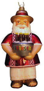 Papi Claus - Mexican Santa Claus Fine Hand-Painted Glass Ornament by CasaQ