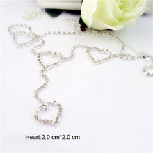 body jewelry Waist Chain Rhinestone Heart to Heart Body Chain