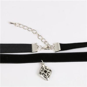 Choker Handmade Choker Necklace Black Velvet 34.5cm long