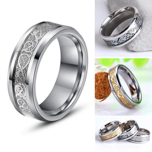 Engagement Rings Two-Tone Men's Dragon Ring