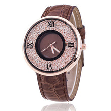 Watches Luxury Rhinestone Leather Dress Watch