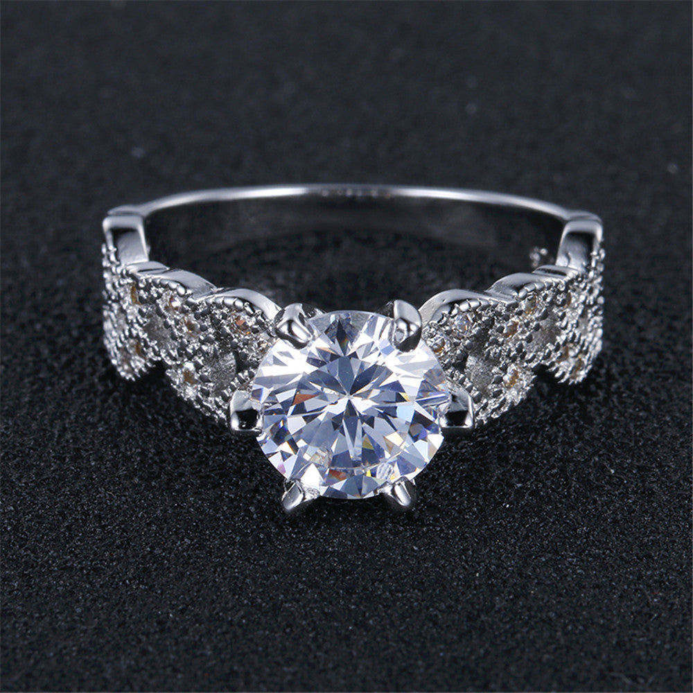 Engagement Rings AAA Zircon Jewelry Wedding Engagement Ring