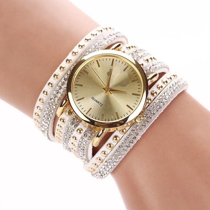 Watches Ladies Rhinestone Bracelet Quartz Watch