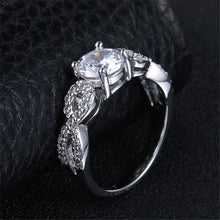 Engagement Rings Infinity Round Cubic Zirconia Engagement Ring