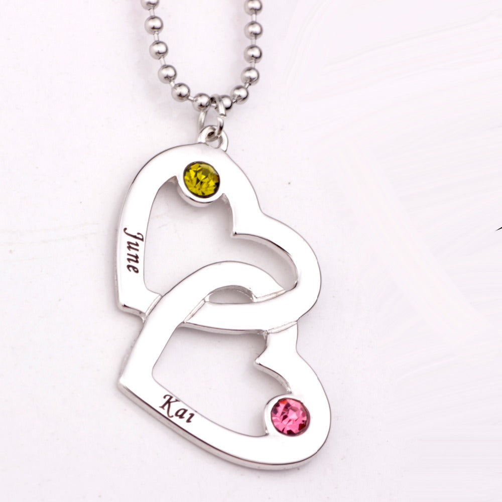 Personalized Jewelry Personalized Heart Link Necklace