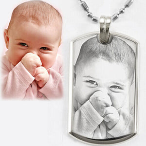 Necklace Personalized Photo Dog Tag Necklace