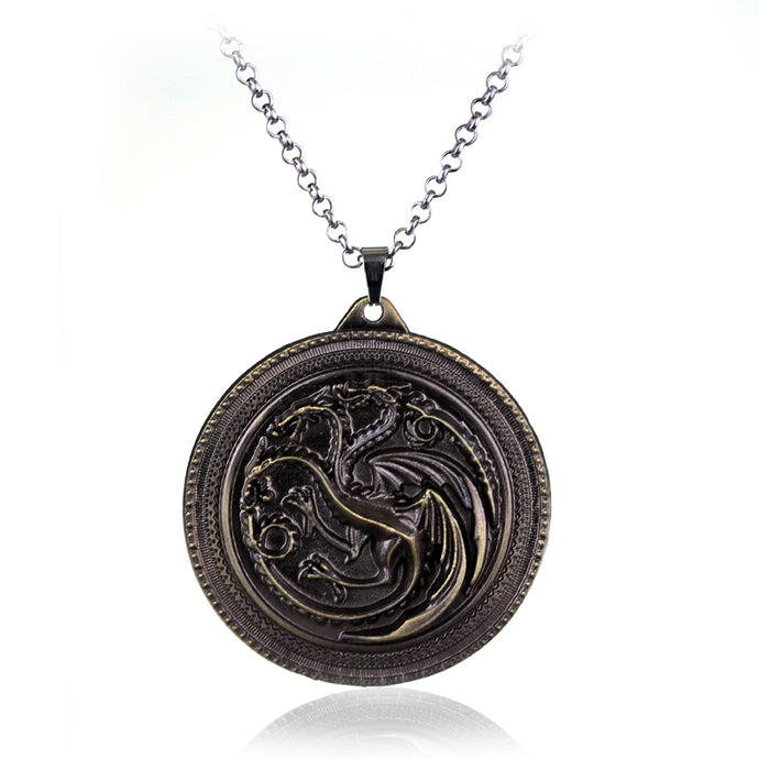 Necklace Game of Thrones Dragon Emblem Necklace